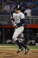 September 9 2008:  Addison Maruszak of the Staten Island Yankees, Class-A affiliate of the NY Yankees, during Game One of the opening playoff series at Russell Diethrick Park in Jamestown, NY.  Photo by:  Mike Janes/Four Seam Images