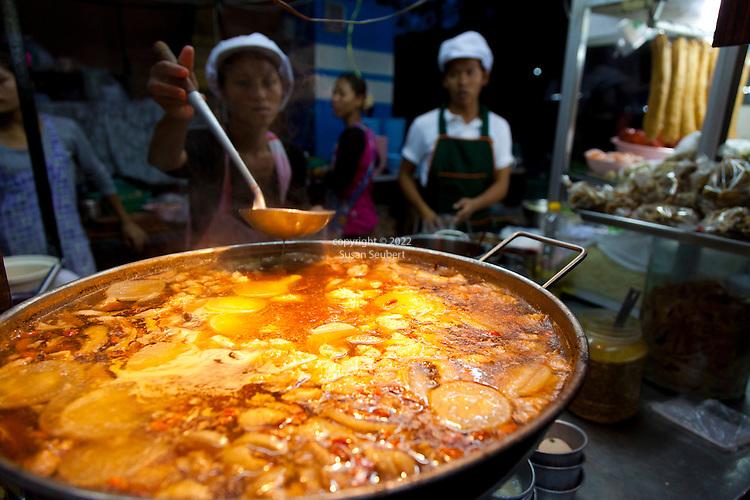 Evening on Samrarat Road. Fish Maw Soup