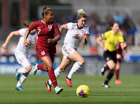 FRISCO, TX - MARCH 11: Nikita Parris #7 of England looks to pass the ball during a game between England and Spain at Toyota Stadium on March 11, 2020 in Frisco, Texas.