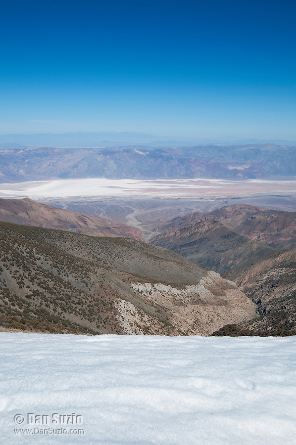View of Death Valley from the Telescope Peak Trail in Death Valley National Park, California