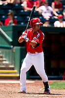 Jose Garcia (3) of the Springfield Cardinals at bat during a game against the San Antonio Missions on May 30, 2011 at Hammons Field in Springfield, Missouri.  Photo By David Welker/Four Seam Images