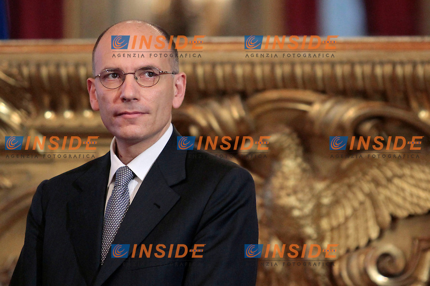 Enrico Letta.Roma 28/04/2013 Quirinale. Giuramento del nuovo Governo..swearing in ceremony of the new government at the Quirinale Palace.Photo Samantha Zucchi Insidefoto