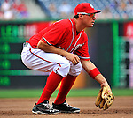 10 July 2011: Washington Nationals third baseman Ryan Zimmerman in action against the Colorado Rockies at Nationals Park in Washington, District of Columbia. The Nationals shut out the visiting Rockies 2-0 salvaging the last game their 3-game series at home prior to the All-Star break. Mandatory Credit: Ed Wolfstein Photo