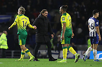 Norwich City manager Daniel Farke at the end of the match, Brighton & Hove Albion vs Norwich City, Premier League Football at the American Express Community Stadium on 2nd November 2019