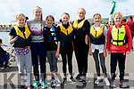 Dingle rowers Ellie Fitzgerald, Mary Fitzgerald, Isla Gardner, Sarah Ní Chonchúir, Ellie Power Farrell, Kíla Massett and Béibhínn Sheehy enjoying the Dingle regatta on Saturday.
