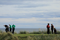 Eoin Murphy and Max Kennedy of Ireland look on during day 1 of the Boys' Home Internationals played at Royal Dornoch, Dornoch, Sutherland, Scotland. 07/08/2018<br /> Picture: Golffile | Phil Inglis<br /> <br /> All photo usage must carry mandatory copyright credit (&copy; Golffile | Phil Inglis)