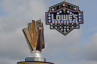 Nov. 22, 2009; Homestead, FL, USA; Detailed view of the NASCAR Sprint Cup Series championship trophy near the pit stall of Jimmie Johnson prior to the Ford 400 at Homestead Miami Speedway. Mandatory Credit: Mark J. Rebilas-