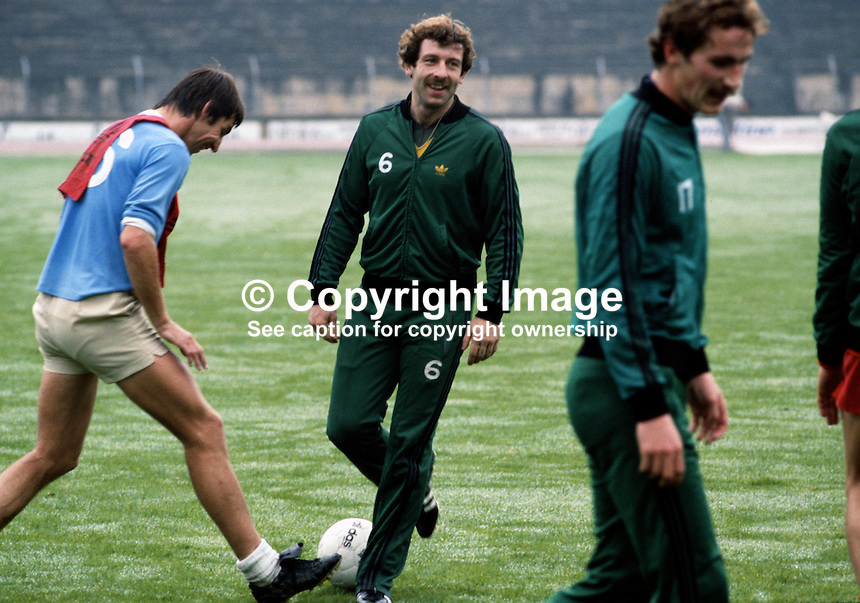 Gerry Armstrong, footballer, Tottenham Hotspur, N Ireland, 198011000361b..Copyright Image from Victor Patterson, 54 Dorchester Park, Belfast, UK, BT9 6RJ..Tel: +44 28 9066 1296.Mob: +44 7802 353836.Voicemail +44 20 8816 7153.Skype: victorpattersonbelfast.Email: victorpatterson@mac.com.Email: victorpatterson@ireland.com (back-up)..IMPORTANT: If you wish to use this image or any other of my images please go to www.victorpatterson.com and click on the Terms & Conditions. Then contact me by email or phone with the reference number(s) of the image(s) concerned.