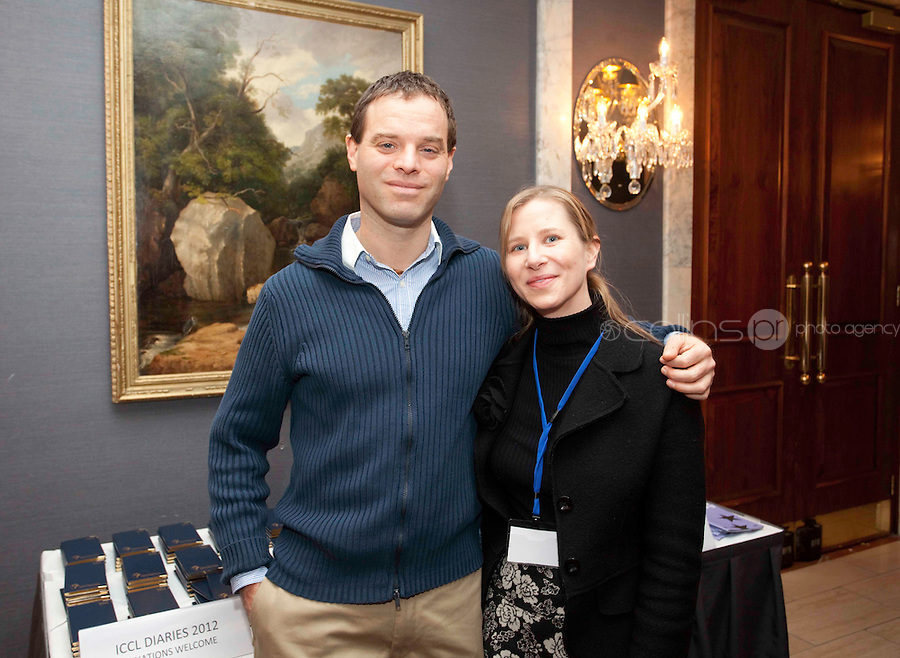 "*** NO FEE PIC***.16/12/2011.(L to R).Balasz Denes HCLU,.Karen Ciesielski fundraising officer (ICCL).during the ""The Future of Human Rights Global Techniques Securing Local Impact"" international seminar at The Westbury Hotel, Dublin..Photo: Gareth Chaney Collins"