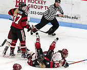 Kasidy Anderson (NU - 37), Andie Anastos (BC - 23), Shelby Herrington (NU - 6), Kenzie Kent (BC - 12) -  The Boston College Eagles defeated the Northeastern University Huskies 2-1 in overtime to win the 2017 Hockey East championship on Sunday, March 5, 2017, at Walter Brown Arena in Boston, Massachusetts.