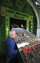 28/05/14 <br /> <br /> Hall Well's main 'picture board' is lifted from a trailer on Wednesday evening. <br /> <br /> Wooden boards coated in clay are decorated with tens of thousands of petals, leaves and pieces of foliage to create giant intricate mosaics. The boards, that each take teams of ten villages three days to make are part of the Well Dressing displays in Tissington, Derbyshire. <br /> <br /> The village has been decorating its six wells every year for more than six hundred years. The tradition is believed to be a celebration of the wells never running dry, giving life and  sustaining the village during times of plague. After a church service today (Thursday)  clergy from six parish will bless each of the well.  <br /> <br /> Following in Tissington's footsteps many other villages in the Derbyshire area also have their own well dressing traditions.<br /> All Rights Reserved - F Stop Press.  www.fstoppress.com. Tel: +44 (0)1335 300098
