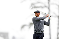 Tiger Woods (USA) hits his second shot on the 5th hole during the second round of the 118th U.S. Open Championship at Shinnecock Hills Golf Club in Southampton, NY, USA. 15th June 2018.<br /> Picture: Golffile | Brian Spurlock<br /> <br /> <br /> All photo usage must carry mandatory copyright credit (&copy; Golffile | Brian Spurlock)