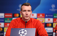 9th March 2020, Red Bull Arena, Leipzig, Germany; RB Leipzig press confefence and training ahead of their Champions League match versus Tottenham Hotspur on 10th March 2020;  Lukas Klostermann RB Leipzig