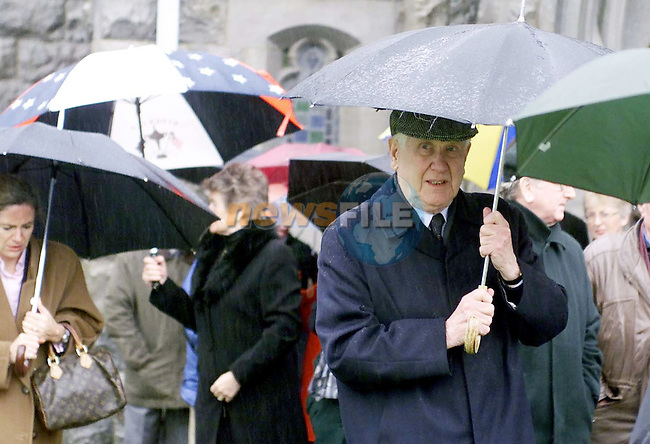 Former Minister Padraig Faulkner at the funeral of the late Minister Paddy Donegan.