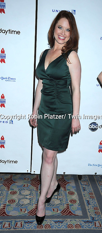 """Melissa Archer posing for photographers at The ABC Daytime Salutes Broadway Cares/ Equity Fights Aids """" An Evening of Musical Entertainment and Comedy""""  Benefit after party  on March 13, 2011 at the Marriott Marquis Hotel in New York City."""