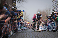 Stijn VANDENBERGH (BEL/AG2R-LaMondiale) up the Oude Kwaremont<br /> <br /> 103rd Ronde van Vlaanderen 2019<br /> One day race from Antwerp to Oudenaarde (BEL/270km)<br /> <br /> ©kramon