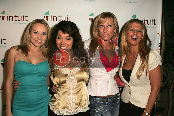 """Alana Curry, Devin DeVasquez, Melissa """"Mojo"""" Hunter and Tamie Sheffield<br /> at the Intuit Media Group Launch Party, The Little Door, Los Angeles, CA 02-23-06<br /> Dave Edwards/DailyCeleb.com 818-249-4998"""