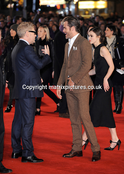 NON EXCLUSIVE PICTURE: PAUL TREADWAY / MATRIXPICTURES.CO.UK<br /> PLEASE CREDIT ALL USES<br /> <br /> WORLD RIGHTS<br /> <br /> Northern Irish film-maker Kenneth Branagh, American actor Chris Pine and English actress Keira Knightley are pictured attending the UK premiere of &quot;Jack Ryan: Shadow Recruit&quot; at the Leicester Square Vue Theatre in London, England.<br /> <br /> JANUARY 20th 2014<br /> <br /> REF: PTY 14295