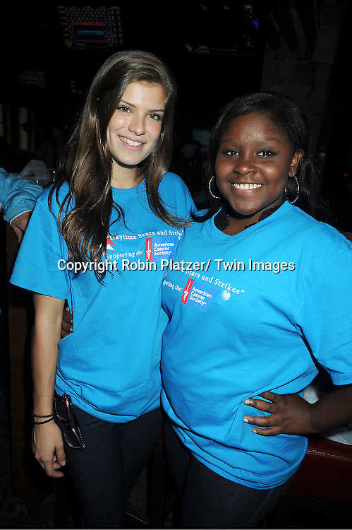 Kelley Missal and Shenell Edmonds attends the Daytime Stars and Strike Charity Event benefitting The American Cancer Society on October 7, 2012 at Bowlmor Lanes in Times Square in New York City.