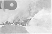Rotary snowplow OM being pushed by four engines at Cumbres.<br /> D&amp;RG  Cumbres, CO
