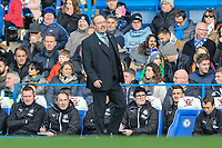 Rafa Benitez (Manager) of Newcastle United looks on during the Premier League match between Chelsea and Newcastle United at Stamford Bridge, London, England on 2 December 2017. Photo by David Horn.