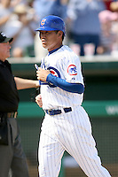 February 29, 2008: Kosuke Fukudome of the Chicago Cubs at Hohokam Park during spring training in Mesa, AZ. Photo by:  Chris Proctor/Four Seam Images