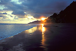 Sunset and Beach, Corcovado NP, Osa Peninsula, Costa Rica.Costa Rica....