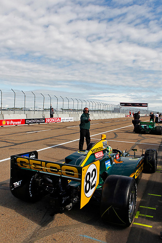 22-24 July, 2011, Edmonton, Alberta, Canada<br /> Tony Kanaan gets waved out for practice<br /> (c)2011, Phillip Abbott<br /> LAT Photo USA