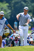 Jon Rahm (ESP) approaches the 9th tee during Saturday's round 3 of the PGA Championship at the Quail Hollow Club in Charlotte, North Carolina. 8/12/2017.<br /> Picture: Golffile | Ken Murray<br /> <br /> <br /> All photo usage must carry mandatory copyright credit (&copy; Golffile | Ken Murray)