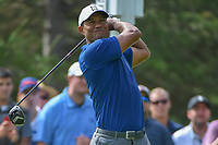 Tiger Woods (USA) watches his tee shot on 13 during 1st round of the World Golf Championships - Bridgestone Invitational, at the Firestone Country Club, Akron, Ohio. 8/2/2018.<br /> Picture: Golffile | Ken Murray<br /> <br /> <br /> All photo usage must carry mandatory copyright credit (&copy; Golffile | Ken Murray)