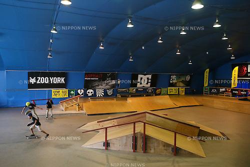Murasaki Park Tokyo,  OCTOBER 18, 2015 :  AJSA Japan Pro Tour Skateboard Championships  Murasaki Cup  Men's Park Style  at Murasaki Park Tokyo, Tokyo, Japan. (Photo by YUTAKA/AFLO SPORT)