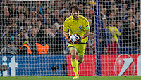 Goalkeeper Oleksandr Shovkovskiy of Dynamo Kiev (Dynamo Kyiv) in action during the UEFA Champions League Group G match between Chelsea and Dynamo Kyiv at Stamford Bridge, London, England on 4 November 2015. Photo by Andy Rowland.