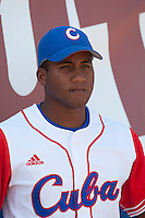 27 September 2009: Alfredo Despaigne of Cuba is seen prior to the 2009 Baseball World Cup gold medal game won 10-5 by Team USA over Cuba, in Nettuno, Italy.
