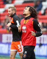 The Blackpool players take part in the pre match warm up <br /> <br /> Photographer David Shipman/CameraSport<br /> <br /> The EFL Sky Bet League One - Charlton Athletic v Blackpool - Saturday 16th February 2019 - The Valley - London<br /> <br /> World Copyright © 2019 CameraSport. All rights reserved. 43 Linden Ave. Countesthorpe. Leicester. England. LE8 5PG - Tel: +44 (0) 116 277 4147 - admin@camerasport.com - www.camerasport.com