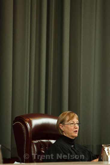 Chief Justice Christine M. Durham. Attorneys for convicted polygamist leader Warren Jeffs argued their case before the Utah Supreme Court Tuesday, November 3 2009 in Salt Lake City, hoping to overturn Jeffs' 2007 conviction as an accomplice to rape.