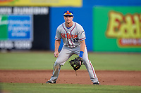 St. Lucie Mets second baseman Dale Burdick (13) during a game against the Dunedin Blue Jays on April 20, 2017 at Florida Auto Exchange Stadium in Dunedin, Florida.  Dunedin defeated St. Lucie 6-4.  (Mike Janes/Four Seam Images)