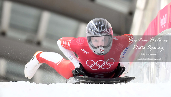 Marina Gilardoni (SUI). Womens skeleton training. Pyeongchang2018 winter Olympics. Alpensia sliding centre. Alpensia. Gangneung. Republic of Korea. 12/02/2018. ~ MANDATORY CREDIT Garry Bowden/SIPPA - NO UNAUTHORISED USE - +44 7837 394578