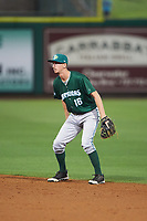 Daytona Tortugas second baseman Blake Butler (16) during a game against the Clearwater Threshers on April 19, 2016 at Bright House Field in Clearwater, Florida.  Clearwater defeated Daytona 4-1.  (Mike Janes/Four Seam Images)