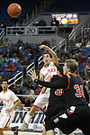 Gorman's Gio Guzman passes against Douglas during a semi-final game in the NIAA 4A State Basketball Championships between Bishop Gorman and Douglas high schools at Lawlor Events Center in Reno, Nev, on Thursday, Feb. 23, 2012. Gorman won 73-38..Photo by Cathleen Allison