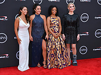 Aly Raisman, Jordyn Wieber, Tiffany Thomas Lopez &amp; Sarah Klein at the 2018 ESPY Awards at the Microsoft Theatre LA Live, Los Angeles, USA 18 July 2018<br /> Picture: Paul Smith/Featureflash/SilverHub 0208 004 5359 sales@silverhubmedia.com