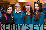 Pictured at the Donal Walsh Live Life Foundation Kerry Film awards 2015 are students from Mercy Mounthawk Secondary School, Tralee, l-r: Amy Maher, Sinead Leen, Ruth O'Connell and Clodagh Byrne