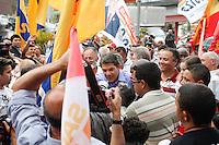 ATENCAO EDITOR IMAGEM EMBARGADA PARA VEICULO INTERNACIONAL - SAO PAULO, SP, 23 de OUTUBRO DE 2012 -  ELEICOES SAO PAULO - FERNANDO HADDAD - O candidato do PT Fernando Haddad, durante Mini-comicio na Casa Verde - regiao norte da capital paulista, nesta terca-feira, 23. <br /> (FOTO: POLINE LYS / BRAZIL PHOTO PRESS).