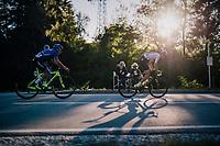 Alexandre Balmer (SUI) &amp; Alessandro Fancellu (ITA)<br /> <br /> MEN JUNIOR ROAD RACE<br /> Kufstein to Innsbruck: 132.4 km<br /> <br /> UCI 2018 Road World Championships<br /> Innsbruck - Tirol / Austria