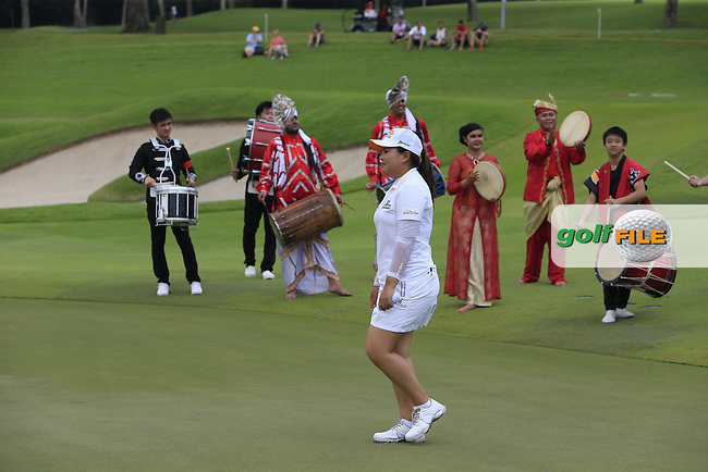 Inbee Park (KOR) wins the 2015  HSBC Women's Champions at the Sentosa Golf Club, The Serapong Course in Singapore on Sunday 8th March 2015.<br /> Picture:  Thos Caffrey / www.golffile.ie