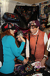 Jane Elissa with Days of Our Lives' Louise Sorel stops by Jane Elissa' Hats for Health (promoting awareness and to raise money for Leukemia/Lymphoma cancer research and patient aid) booth at the Grand Central's Vanderbilt Hall Holiday Fair on December 24, 2010 in New York City, New York. There are 76 vendors with the fair running from Thanksgiving to Dec. 24. (Photo by Sue Coflin/Max Photos)