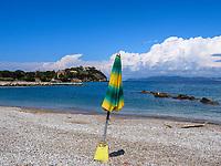 Capo Scandelli und Strand, Cavo , Elba, Region Toskana, Provinz Livorno, Italien, Europa<br /> Capo Scandelli and beach, Cavo, Elba, Region Tuscany, Province Livorno, Italy, Europe