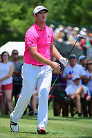 Jon Rahm (ESP) watches his tee shot on 3 during round 3 of the Dean &amp; Deluca Invitational, at The Colonial, Ft. Worth, Texas, USA. 5/27/2017.<br /> Picture: Golffile | Ken Murray<br /> <br /> <br /> All photo usage must carry mandatory copyright credit (&copy; Golffile | Ken Murray)