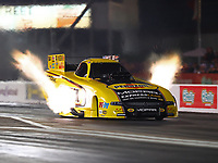 Apr 20, 2018; Baytown, TX, USA; NHRA funny car driver Matt Hagan during qualifying for the Springnationals at Royal Purple Raceway. Mandatory Credit: Mark J. Rebilas-USA TODAY Sports