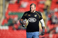 James Haskell of Wasps looks on during the pre-match warm-up. Aviva Premiership match, between Leicester Tigers and Wasps on November 1, 2015 at Welford Road in Leicester, England. Photo by: Patrick Khachfe / Onside Images