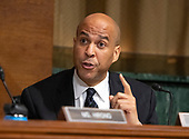 United States Senator Cory Booker (Democrat of New Jersey) makes an opening statement as the  US Senate Committee on the Judiciary meets to vote on the nomination of Judge Brett Kavanaugh to be Associate Justice of the US Supreme Court to replace the retiring Justice Anthony Kennedy on Capitol Hill in Washington, DC on Friday, September 28, 2018.  If the committee votes in favor of Judge Kavanaugh then it goes to the full US Senate for a final vote.<br /> Credit: Ron Sachs / CNP<br /> (RESTRICTION: NO New York or New Jersey Newspapers or newspapers within a 75 mile radius of New York City)